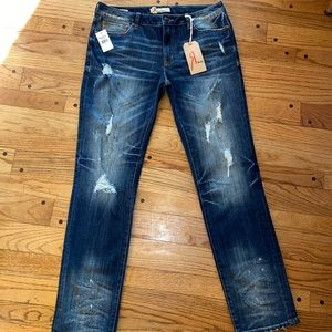 NWT Rock Revival Remix Straight Leg Jeans 26 R